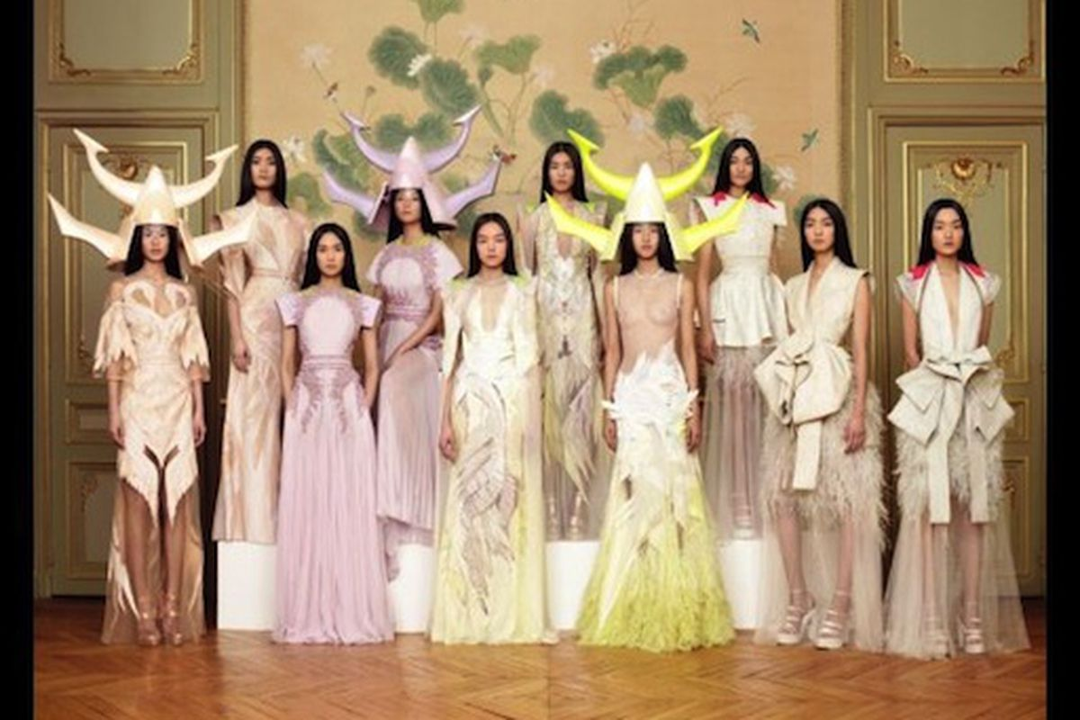 """Note to R. Tisci: Hope you'll keep hiring these lovely ladies for your non-Asian inspired runway shows. Thanks. Image via <a href=""""http://www.huffingtonpost.com/2011/01/26/givenchy-haute-couture-asian-models_n_814148.html#s230205"""">HuffPo</a>."""