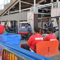 Even more equipment being moved out of Wrigley