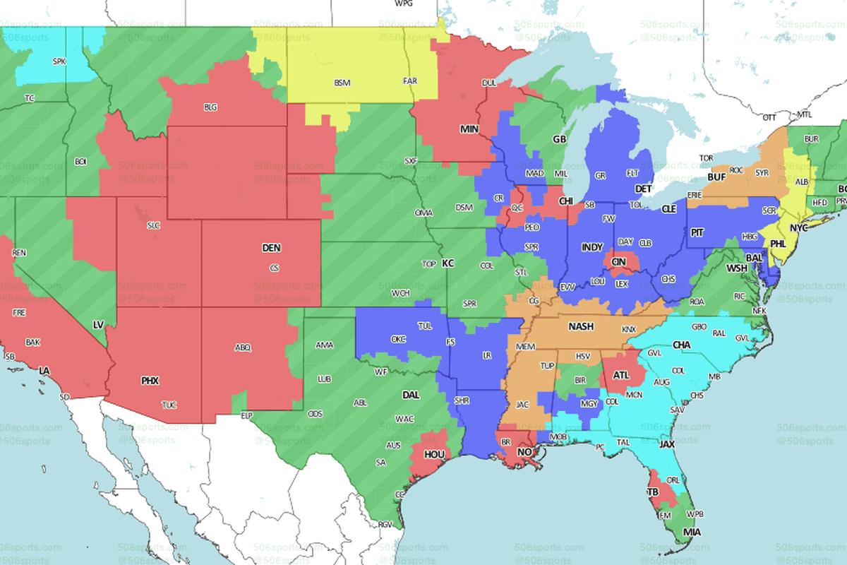Ravens vs. Steelers: Broadcast Map