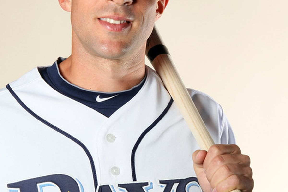 FT. MYERS FL - FEBRUARY 22:  :  :  Sam Fuld #27 of the Tampa Bay Rays poses for a portrait during the Tampa Bay Rays Photo Day on February 22 2011 at the Charlotte Sports Complex in Port Charlotte Florida.  (Photo by Elsa/Getty Images)