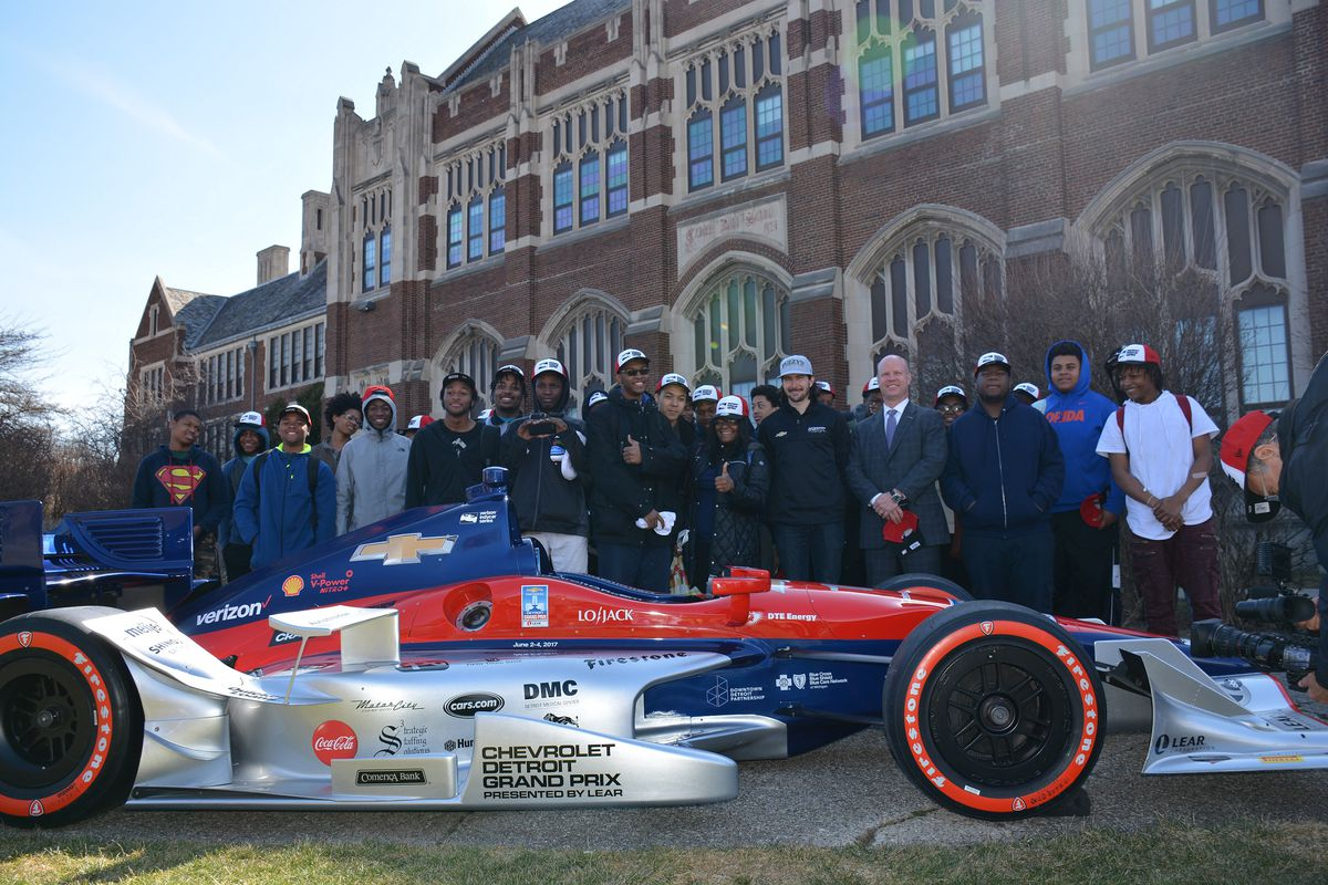 Comerica Bank surprised 50 Detroit Central High School students with the news that they'll be able to attend the 2017 Chevrolet Detroit Grand Prix. The ninth- through 12th-grade students, who have an interest in robotics and technology, will meet with several racing professionals during a behind-the-scenes tour of race activities on Belle Isle on June 2.