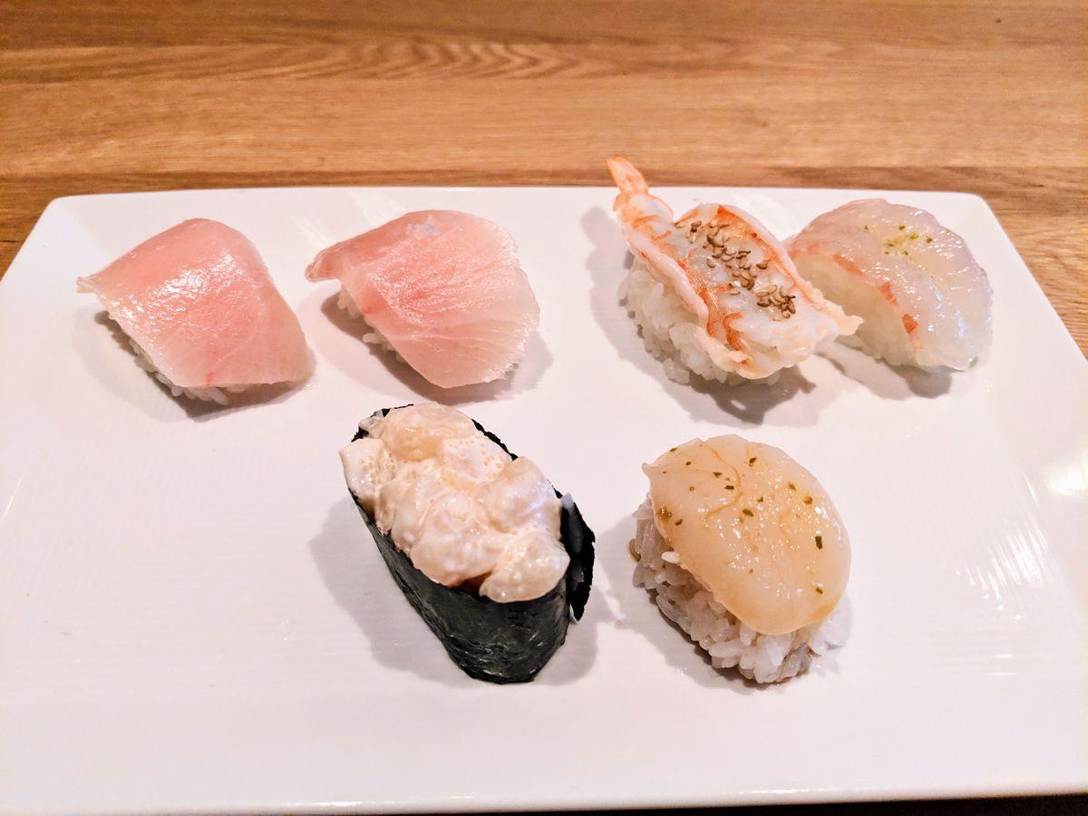 Sushi at Sugarfish Marina del Rey