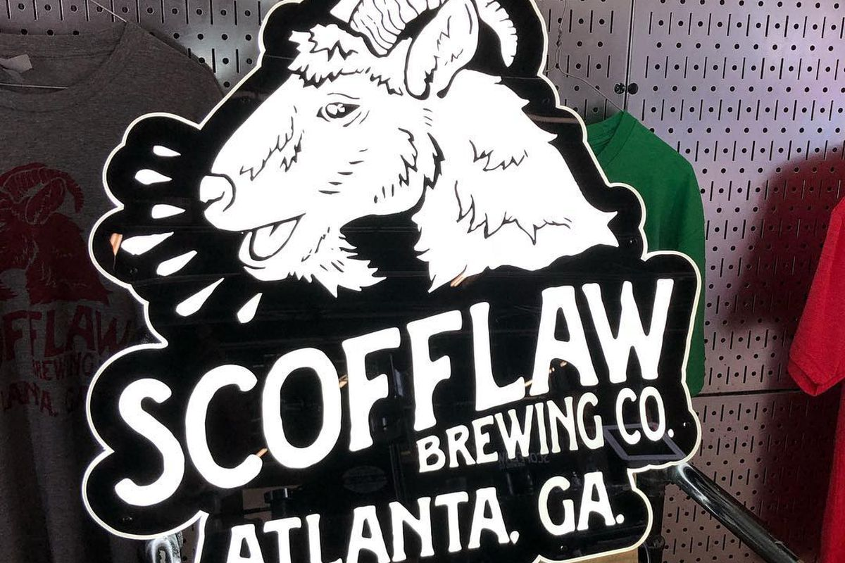 Scofflaw Brewing Co. featuring its goat mascot