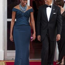 In <b>Marchesa</b>, State dinner with UK Prime Minister David Cameron at the White House on March 14, 2012