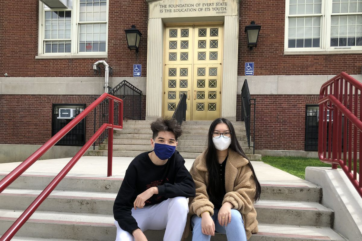 Behruz Mahmudov and Kayla Wang, both juniors at Forest Hills High School in Queens, N.Y., are working on science research that addresses climate changed called Stomata & the Climate Crisis.