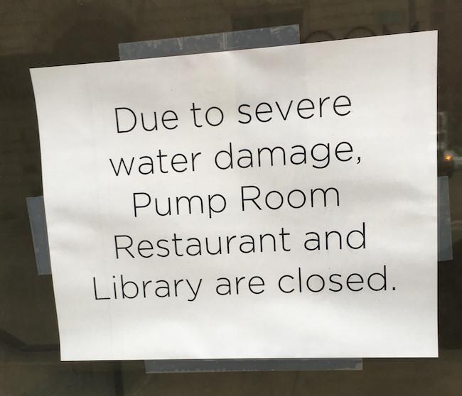 Pump Room Sign