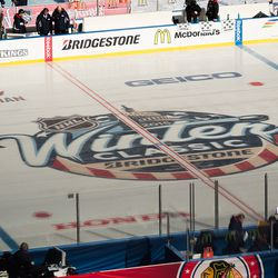 2015 NHL Winter Classic Logo At Center Ice