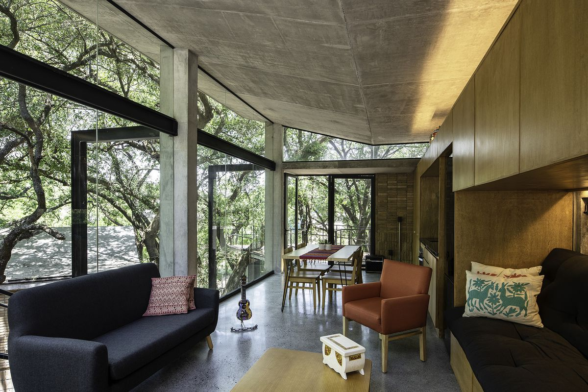 A modern, multi-level treehouse in the middle of a Mexican ...