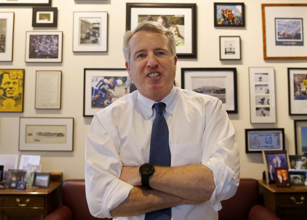Chicago businessman and Democratic candidate for Illinois Governor Chris Kennedy poses for a portrait in his office in Chicago in February. (AP File Photo/Charles Rex Arbogast)