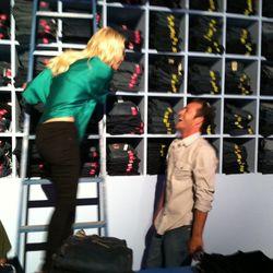 Luke and Jennie take a turn helping customers