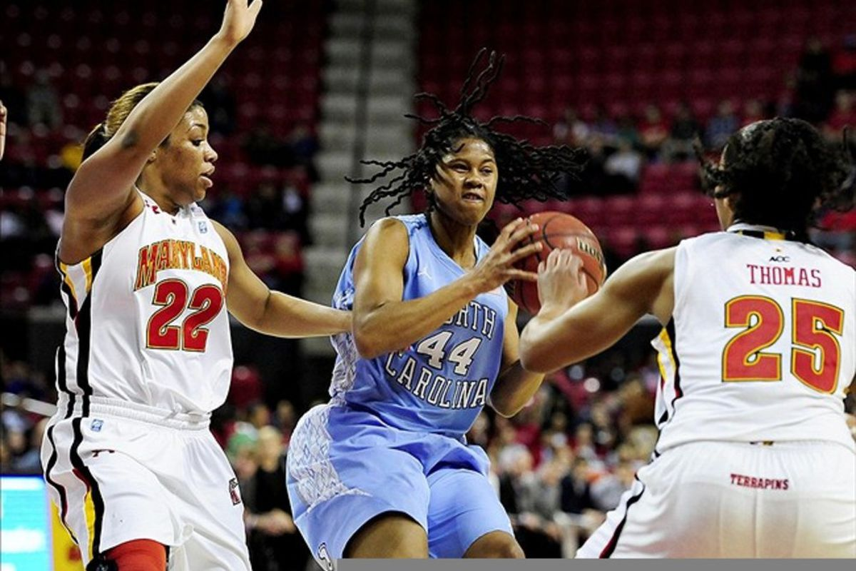 Tierra Ruffin-Pratt scored 13 points to help lead her Tar Heels past the No. 8 team in the country.
