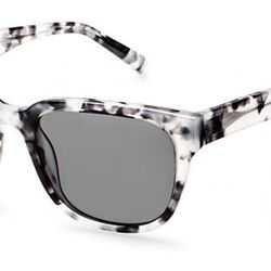 """The New Tortoise: <b>Warby Parker</b> Boyd in marbled charcoal, <a href=""""http://www.warbyparker.com/women/sunwear/boyd-marbled-charcoal-sun-f"""">$95</a>"""