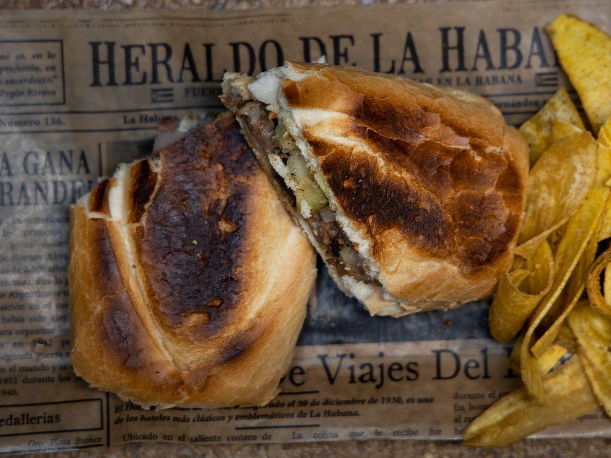 The Cuban sandwich from Casta's Rum Bar