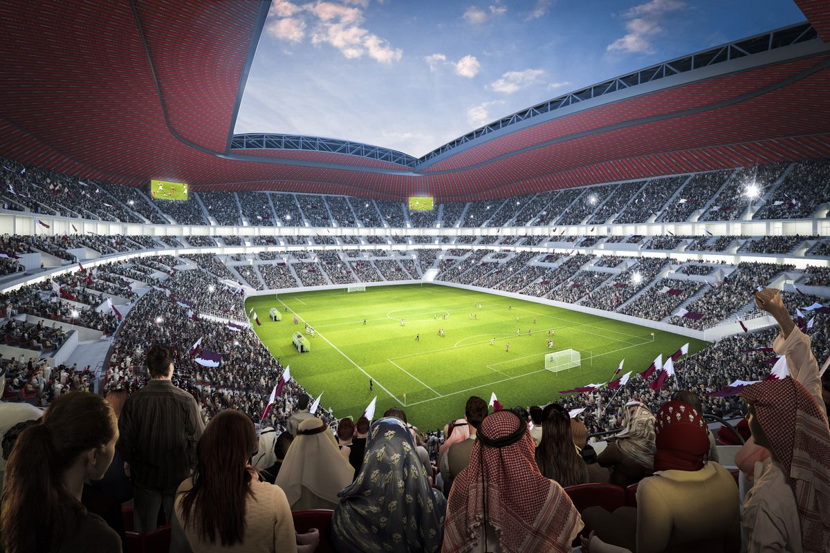 An undated computer impression of what a 2022 Qatar World Cup stadium will look like.