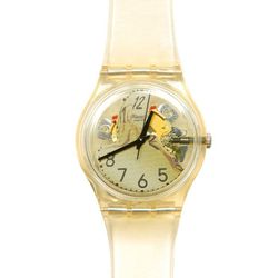 """<b>Jeremy Scott x Swatch</b> Melted Minutes Watch, <a href=""""http://www.openingceremony.us/products.asp?menuid=2&designerid=784&productid=52150&key=watch"""">$60</a> at Opening Ceremony"""