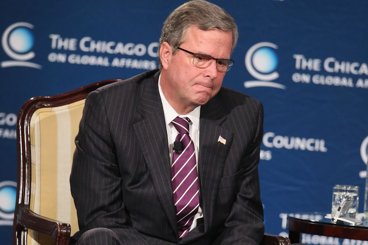 Jeb Bush at the foreign policy speech.