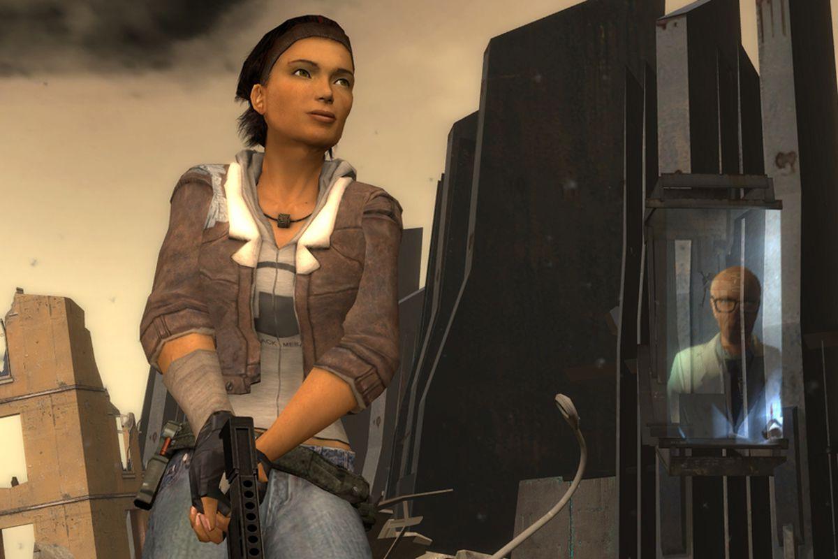 Alyx Vance in a screenshot taken from Half-Life 2