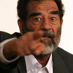A new report says Saddam Hussein was bluffing about his long-abandoned weapons to deter neighboring Iran, Iraq's enemy.