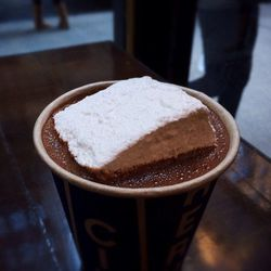 """Banana Peel Hot Chocolate with Marshmallow at City Bakery by <a href=""""https://www.flickr.com/photos/foodforfel/12720000963/in/pool-eater"""">foodforfel"""