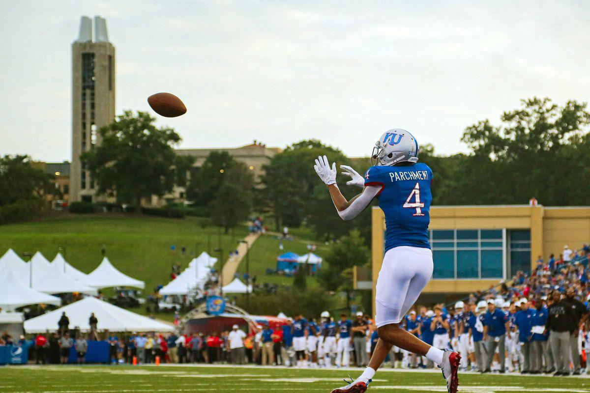 NCAA Football: West Virginia at Kansas