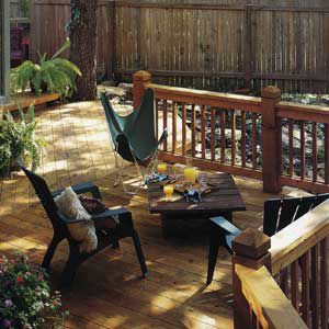 Deck With Slight Pigmented Finish