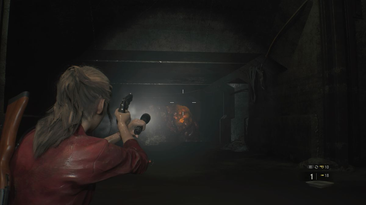 Resident Evil 2 sewer enemy