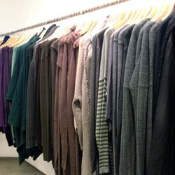 Sweaters ran from $44.50 to about $100.