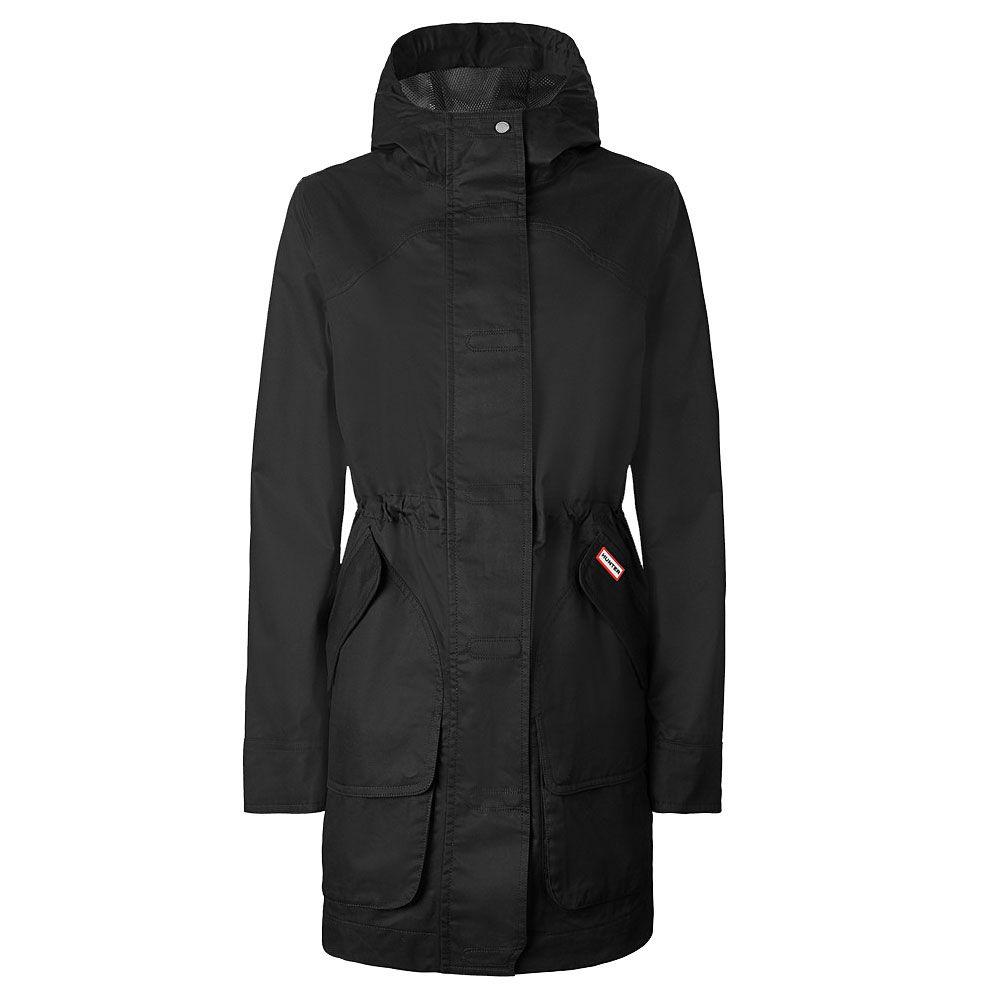 A black raincoat