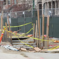 Work on the east curb on Sheffield