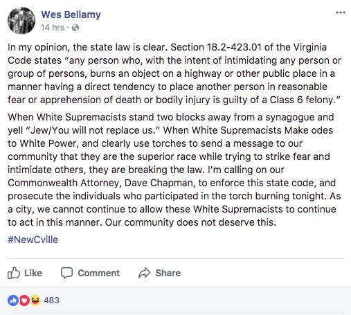 Wes Bellamy, vice mayor