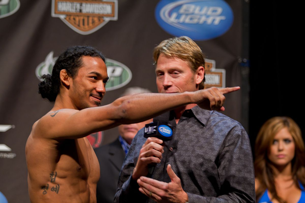 Ben Henderson from Glendale, AZ during a pre-fight press conference at WEC 53. (Photo by Ryan Malon, SB Nation Arizona).