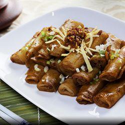 Hong Kong Cafe rice rolls with XO sauce
