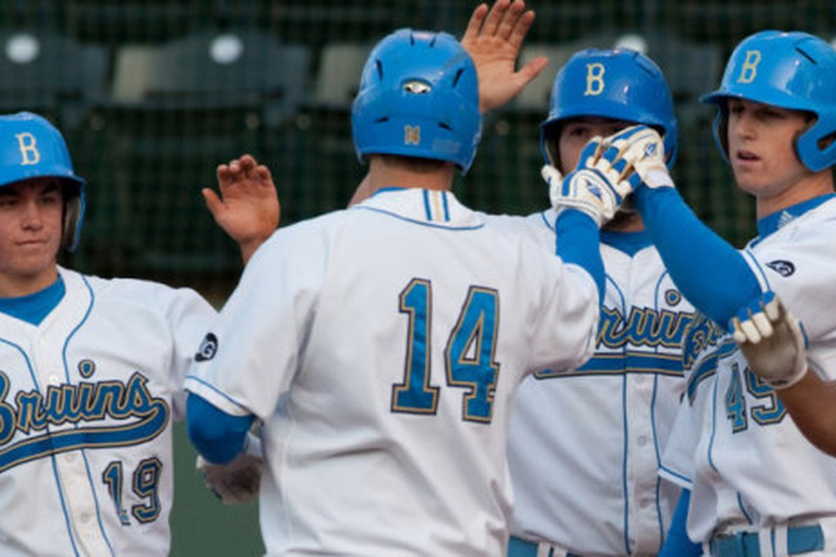 """UCLA combined for 19 hits in their 13-10 win over Fullerton via the <a href=""""uclabruins.com"""">official site</a>"""