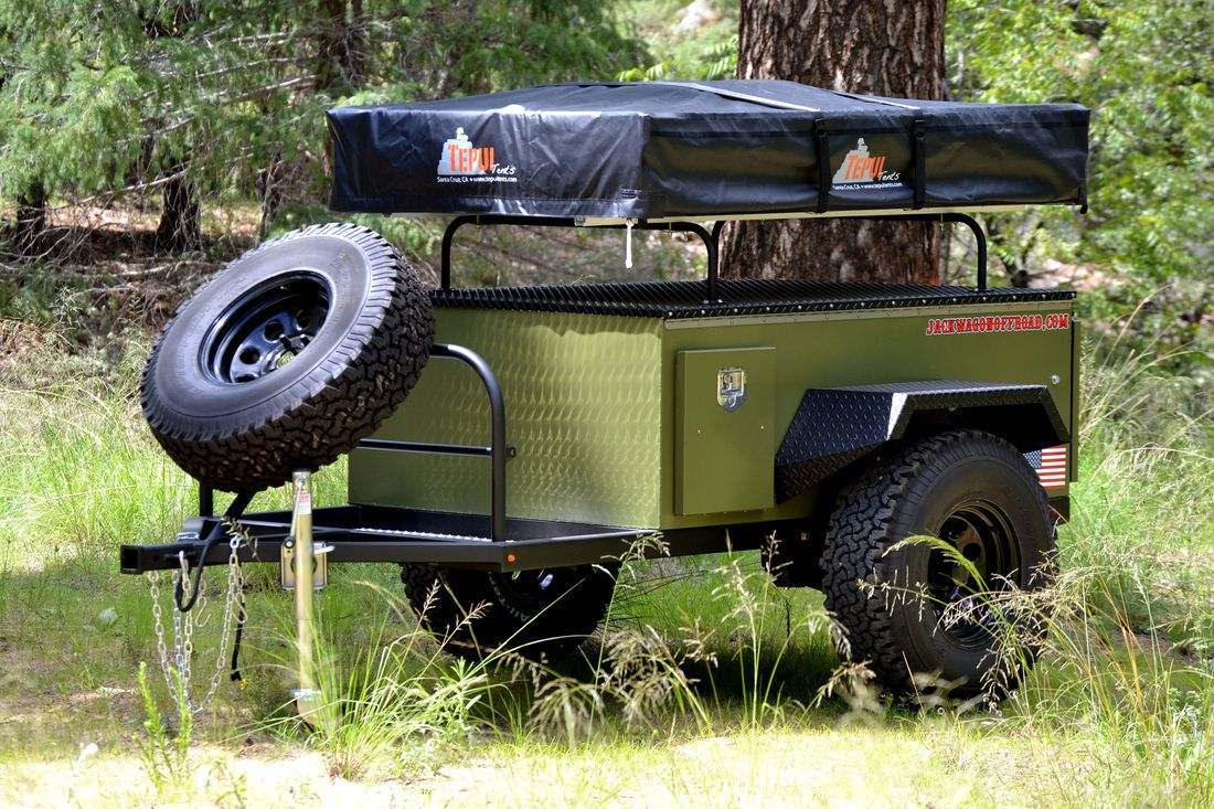 Tiny Trailer Unfolds To Reveal 3 Person Rooftop Tent Curbed