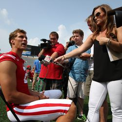 Wisconsin quarterback Joel Stave answers questions about his shoulder health.