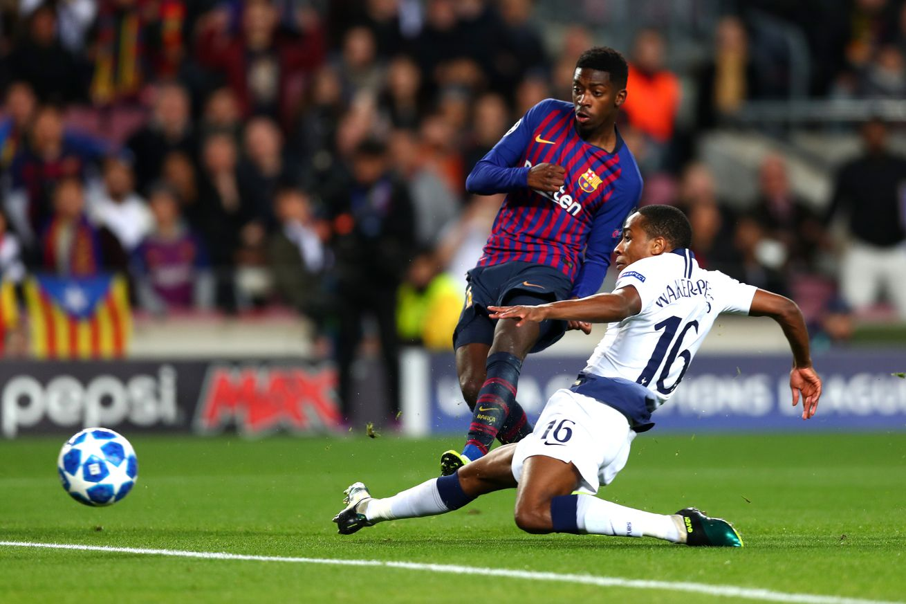 Dembele strike wins Champions League goal of the week