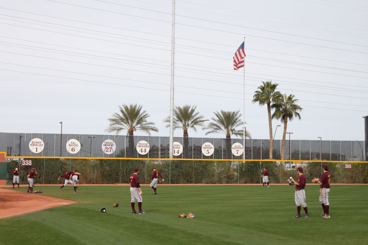 The 2014 ASU baseball team opened practice Friday afternoon in Tempe. The Sun Devils will enter the season ranked No. 18 by Perfect Game.