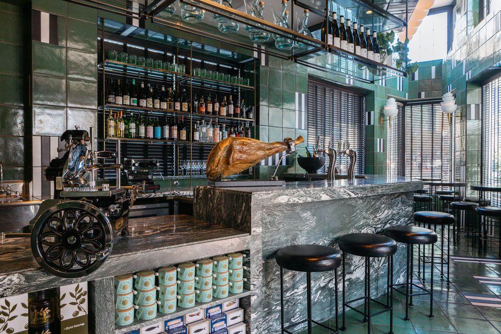 Interior cafe space at La Bande