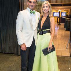 Homeland's Navid Negahban with Heidi Pettit (wearing Karen Caldwell)