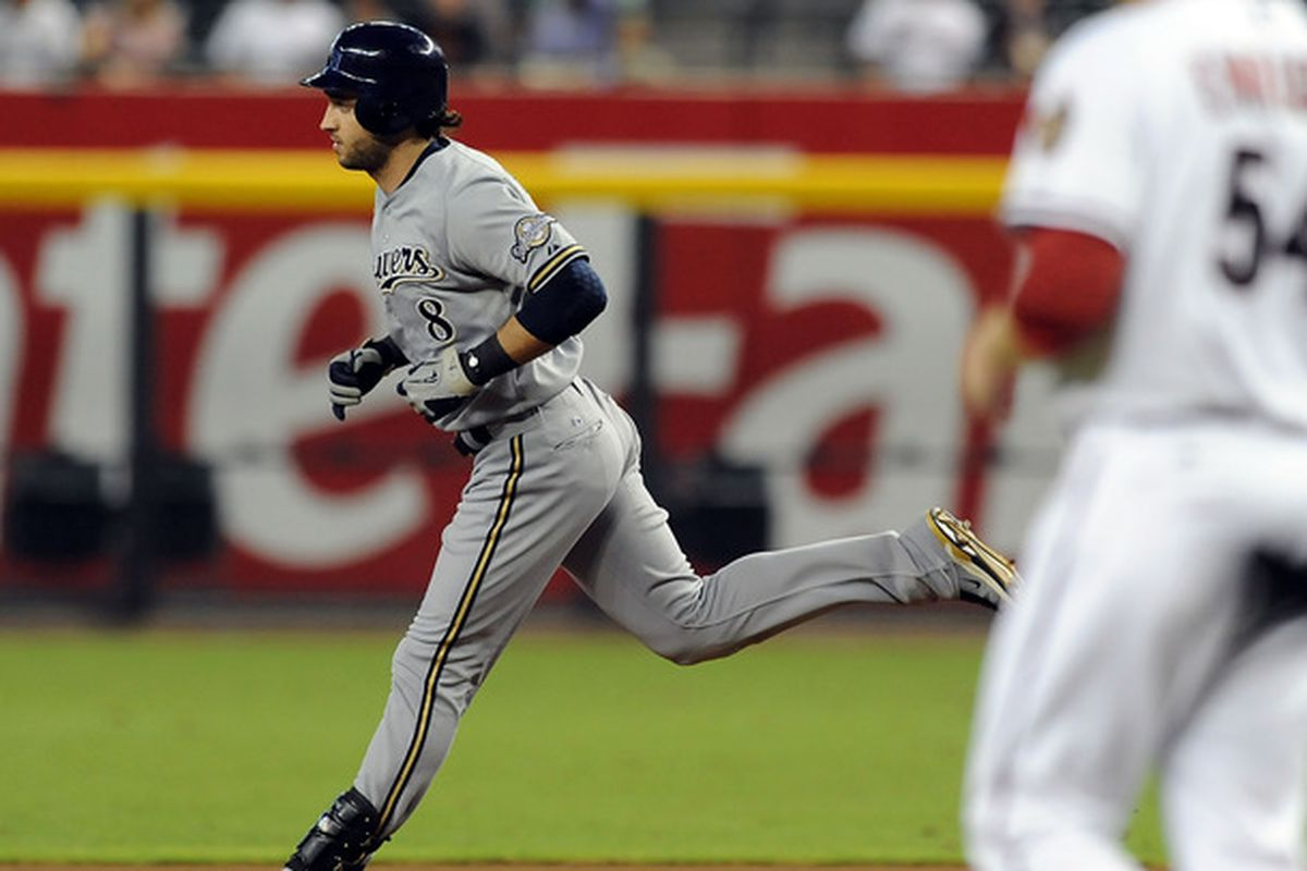 Ryan Braun was one of three Brewers to homer in the first inning.