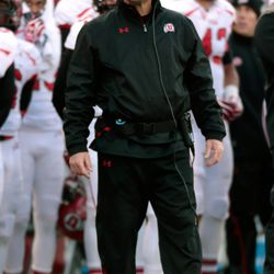 Kyle Whittingham wondering why he decided to punt at the end, probably