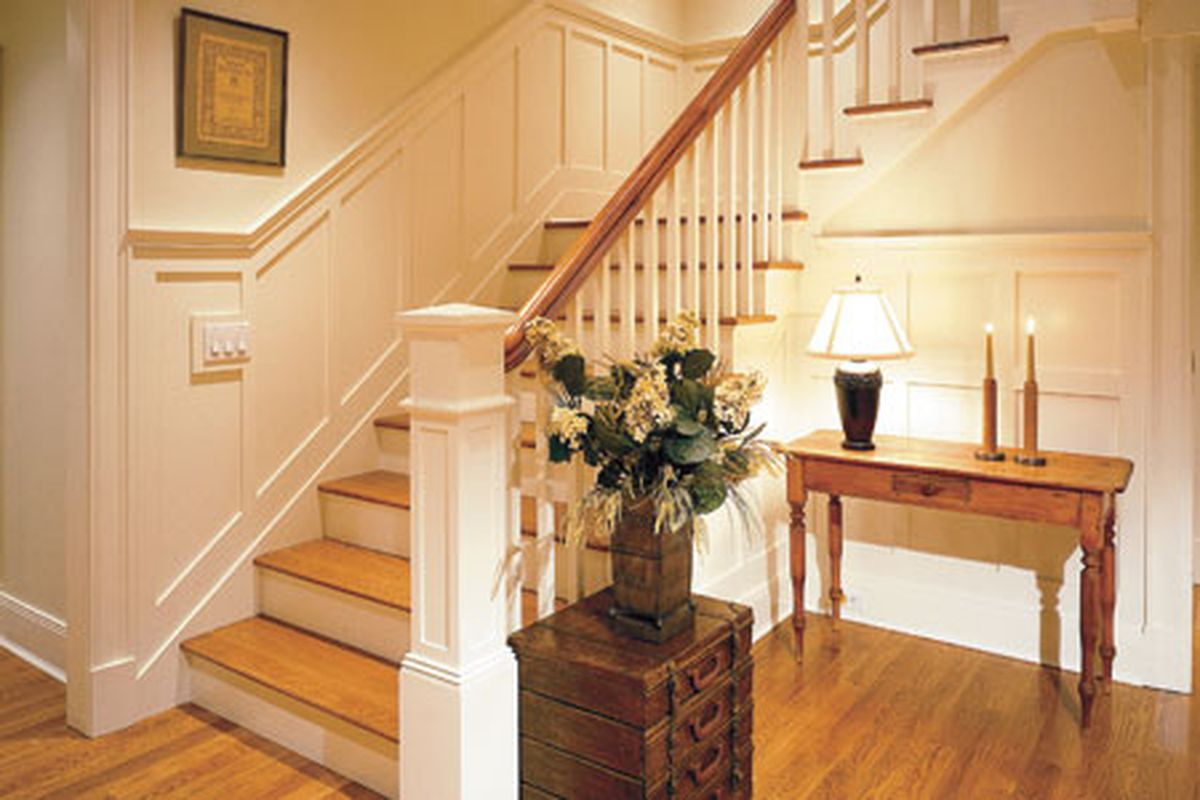Wainscoting Along Stairs