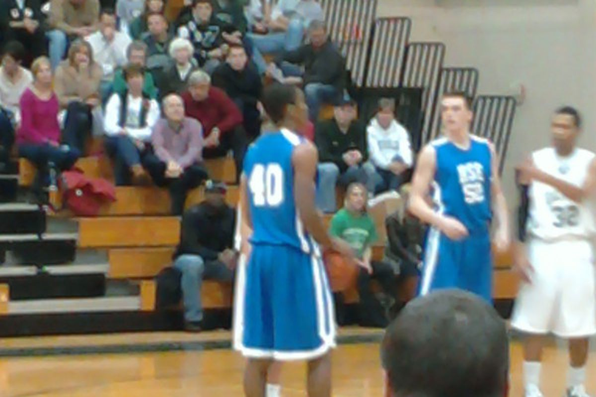 Gary Harris lines up for his first points of the night.