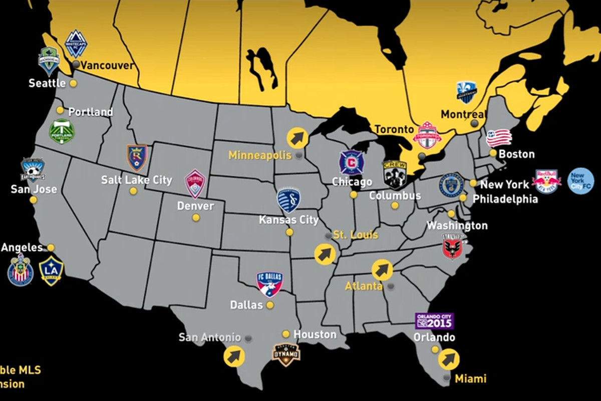 MLS names five candidiate cities for expansion - SBNation com