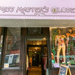 """<b>↑</b>Shop vintage fashions at <b><a href="""" http://www.missmasterscloset.com/"""">Miss Masters Closet</a></b> (1070 Bedford Avenue)— a neatly merchandised shop that carries ladylike dresses, slouchy '80s sweaters, flowy blouses, and trendy-again low heels."""