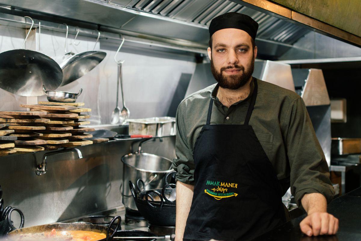 Chef-owner Hamid at Namak Mandi in Tooting