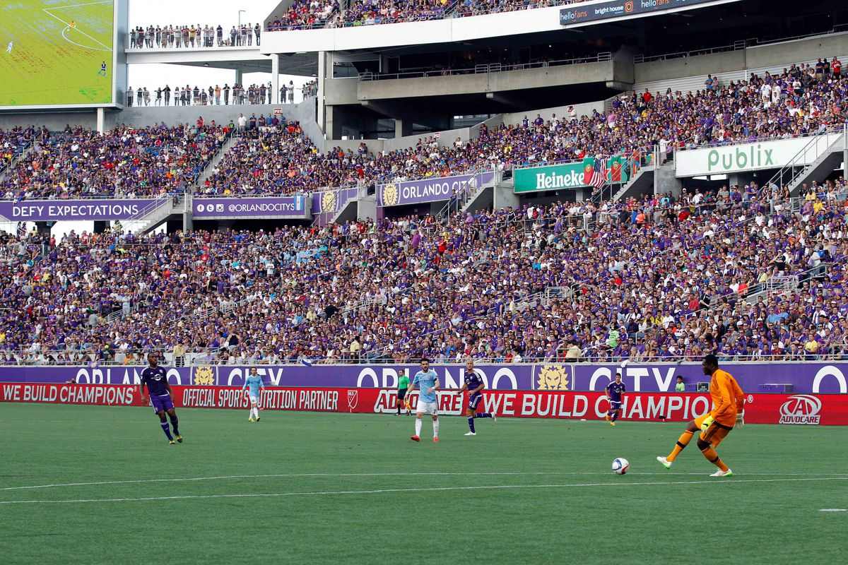 Orlando City faithful filled the bowl for the Lions' first home fixture vs. NYCFC in March.