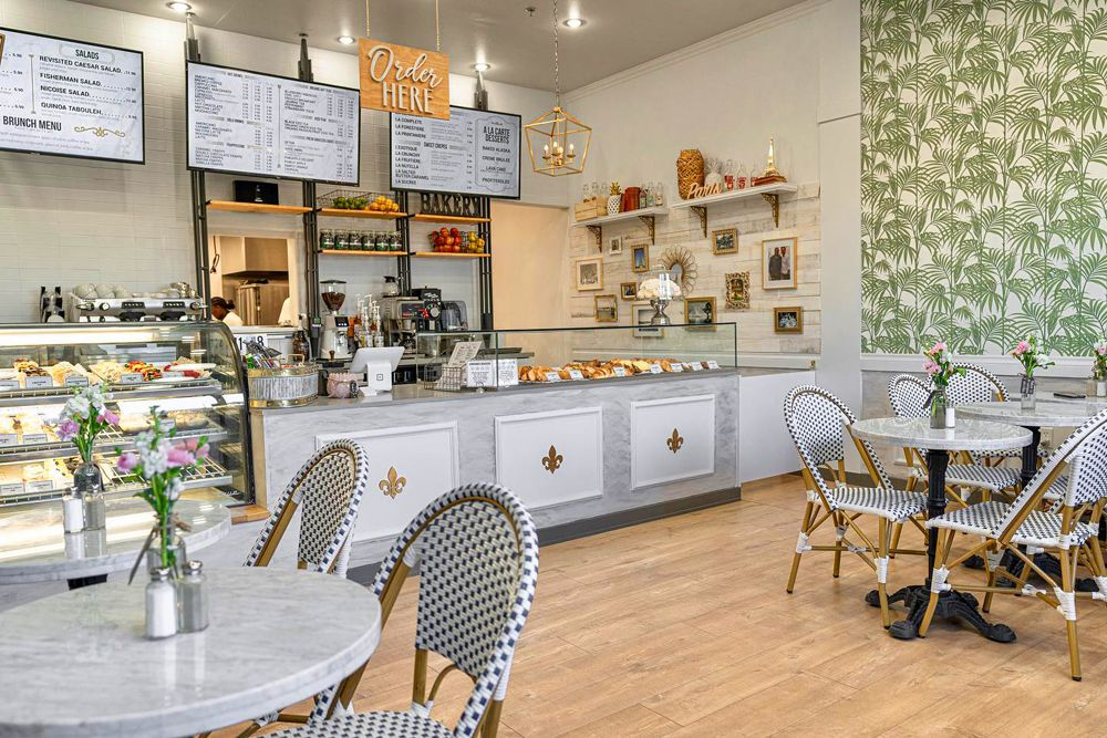 Interior of the new French bakery and pastry shop, Le Paris Brest Cafe in Henderson.