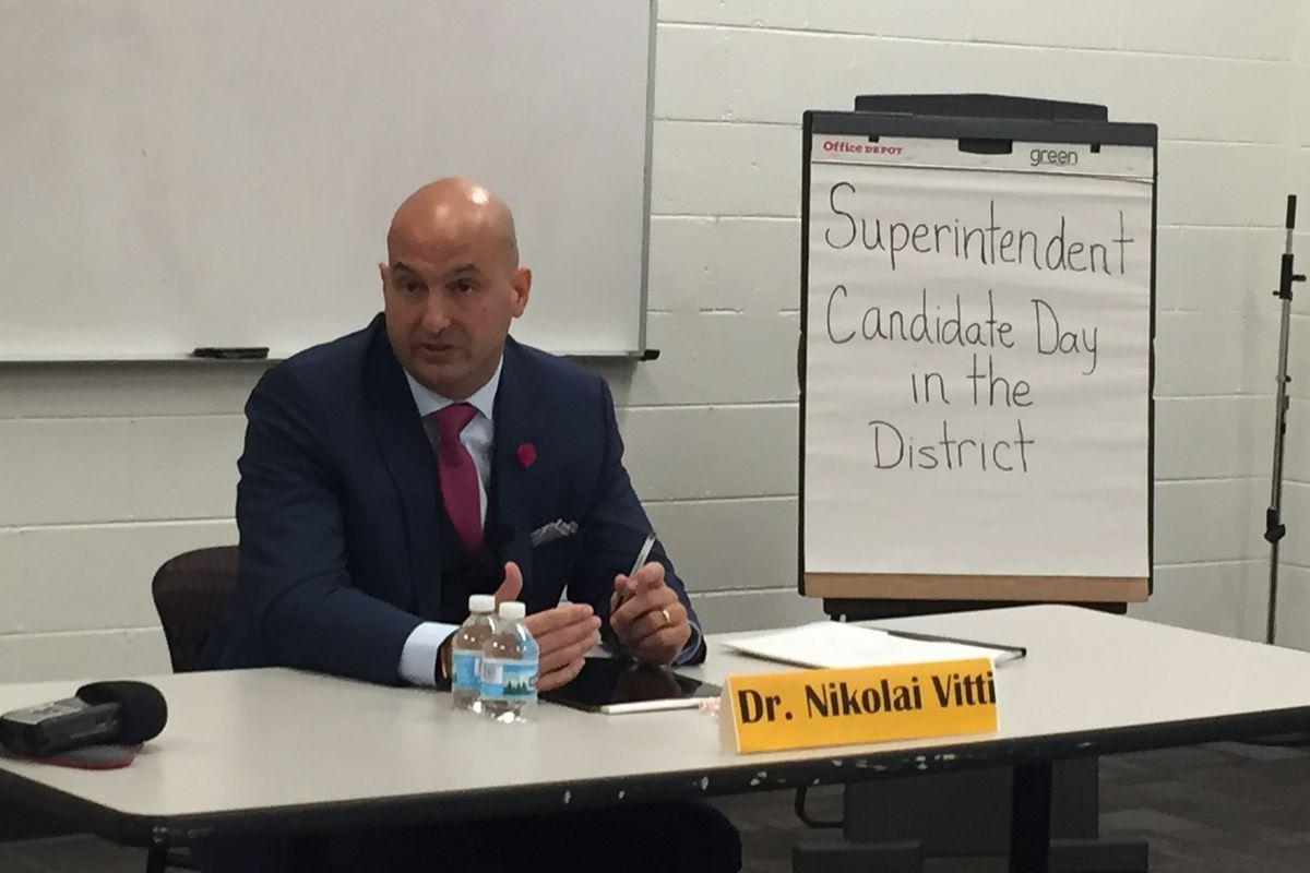 Superintendent Nikolai Vitti interviewed for the job on March 30, 2017.