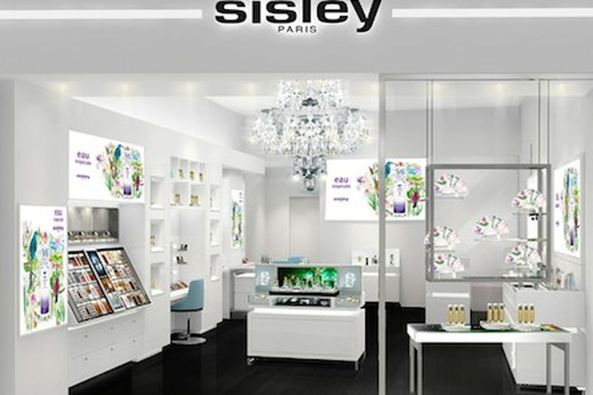 """A rendering of the boutique opening in Las Vegas this May, via <a href=""""http://www.wwd.com/beauty-industry-news/retailing/sisley-to-open-first-us-store-7637352"""">WWD</a>"""